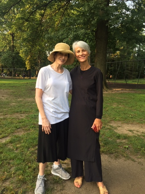 The author and her yoga guide Sylvie Bruandet