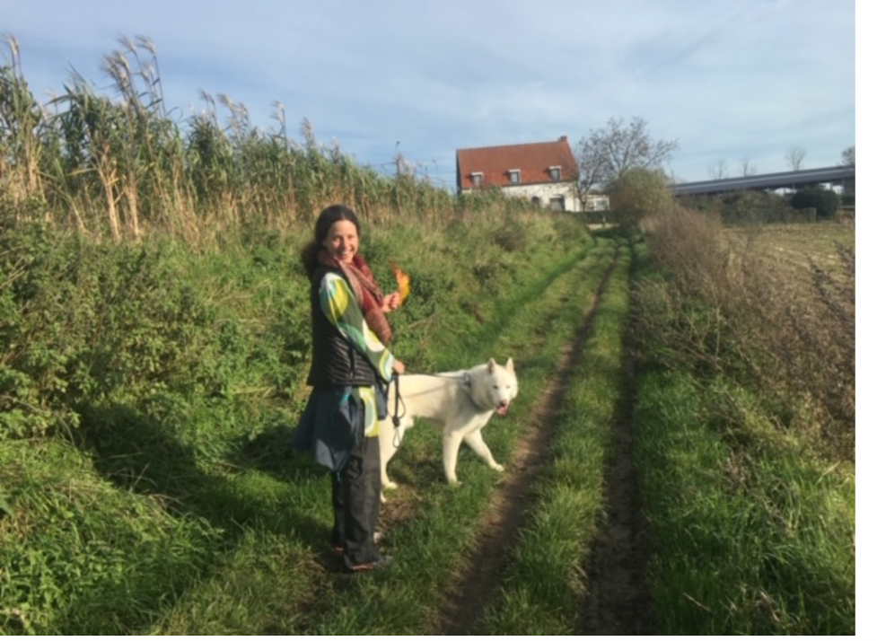 Washington Blues: The author self-soothes by walking her dog Atticus