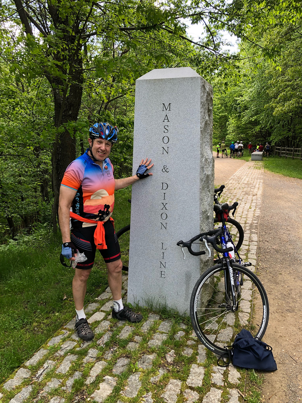 On a cycling trip to the Maryland-Pennsylvania border