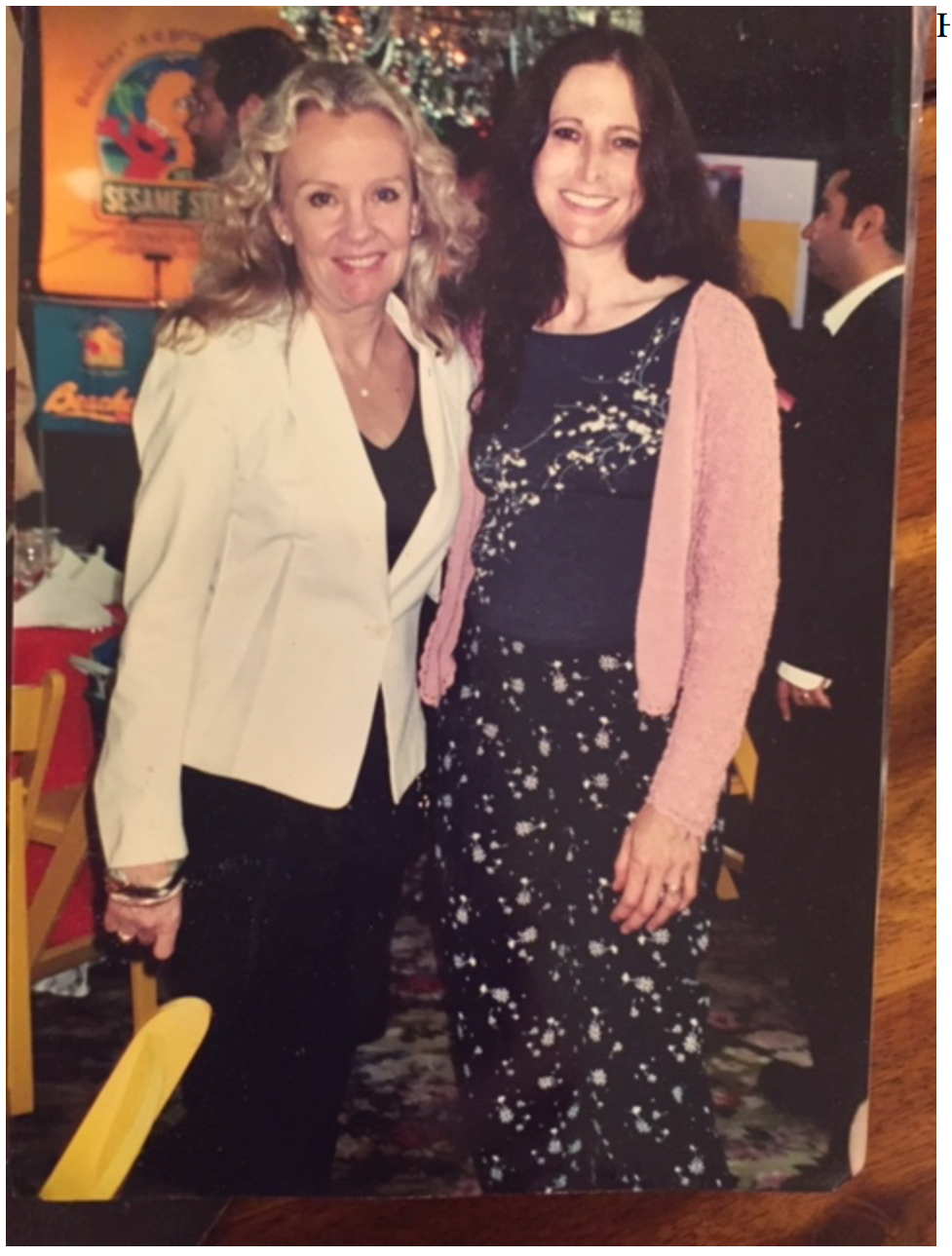 Hayley Mills and the author at a Disney party at Tavern on the Green, circa 2000