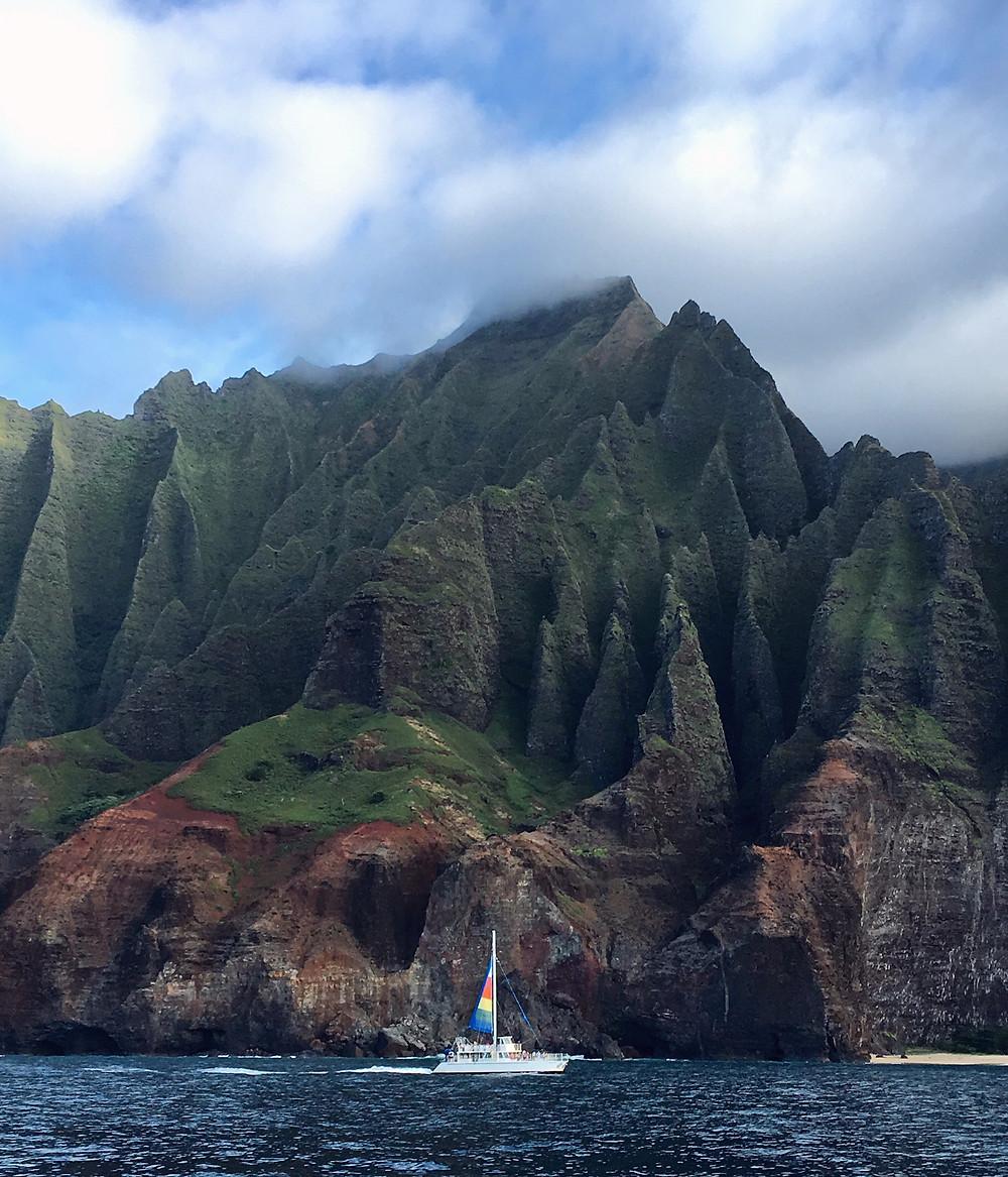 Nā Pali Coast in Kauai, Hawaii