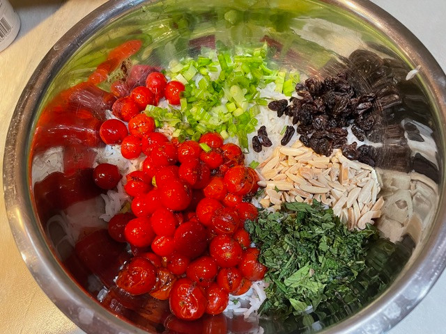 All of the ingredients ready to be mixed in.