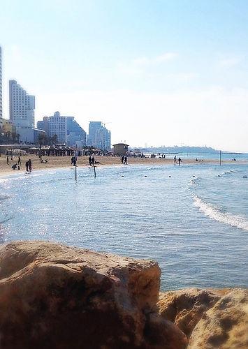 The beach in Tel Aviv, Israel