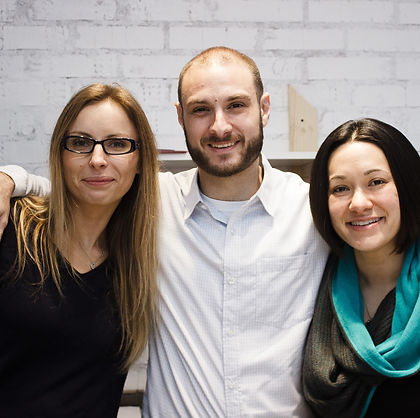Svitlana Bulkina, Amir Landa & Christina Kaku, founders of CCI English