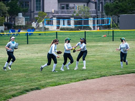 Softball team defies COVID delay, vies for league lead