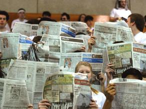 How does Stevenson read news?