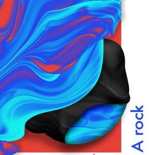 A wave, A rock