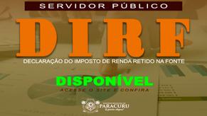 Paracuru: DIRF (Declaração do Imposto de Renda Retido na Fonte) já está disponível para funcionários