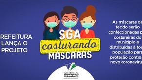 """Prefeitura de São Gonçalo do Amarante lança projeto """"Costurando Máscaras"""" para distribuir para a pop"""
