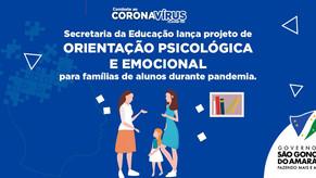 Secretaria da Educação de São Gonçalo lança projeto de orientação psicológica e emocional para famíl