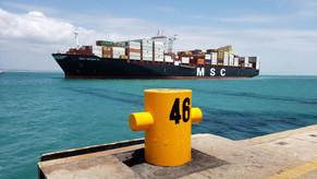 Porto do Pecém em São Gonçalo do Amarante recebe o maior cargueiro do mundo