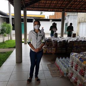 Empregados da CSP arrecadam e doam 5,5 toneladas de alimentos para 560 famílias