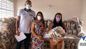 Prefeitura de São Gonçalo do Amarante recebe do Complexo do Pecém doação de cestas básicas para famí