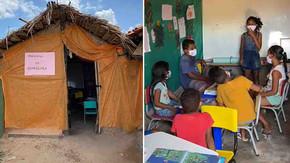 Menina de 12 anos transforma barraco de taipa em escola para crianças