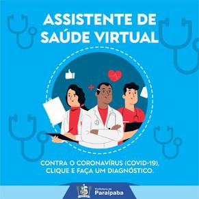 Paraipaba adotou ação no enfrentamento ao coronavírus: um assistente de saúde virtual