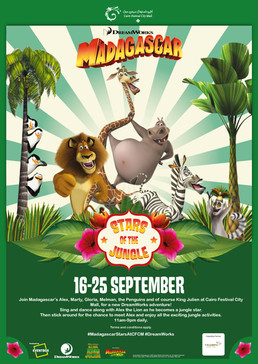 """Madagascar Stars of the Jungle"" show at Cairo Festival City Mall"