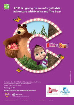 Masha and The Bear at CC Mirdif