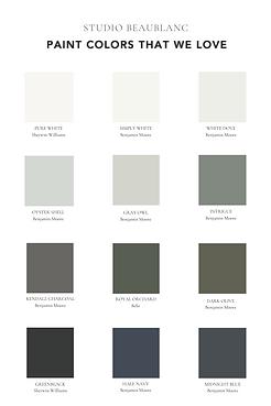 Favorite paint colors. Studio Beaublanc.