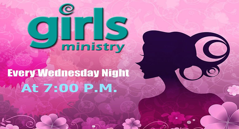 Girls Ministry Every Wednesday backgroun