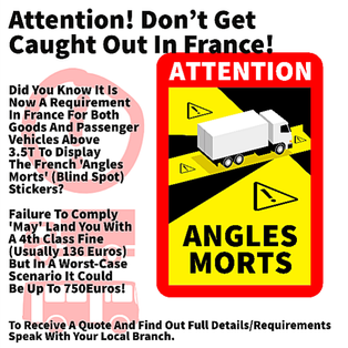 Angles Morts stickers - contact your local branch to order