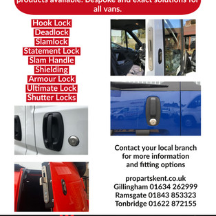 Locking solutions can be installed by our team at ProTech. Contact your local branch for further information.