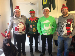 Pro Parts Christmas Do & Xmas Jumper Day.