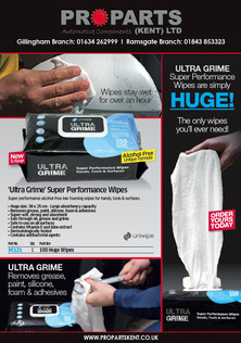 Ultra Grime wipes - contact your local branch to order