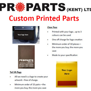 Custom Printed Parts - Contact your local branch for pricing and orders