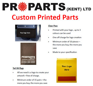 Custom Printed Parts - contact your local branch for more information