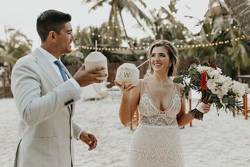 Tropical Akiin Beach Tulum Wedding by Ar