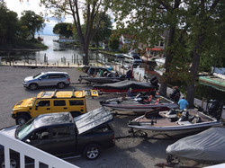 Boat Trailers in parking lot