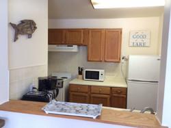 Starboard cabin kitchen