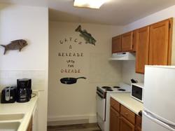 Starboard cabin kitchen area