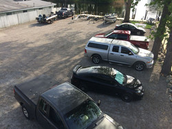 Port view of parking lot