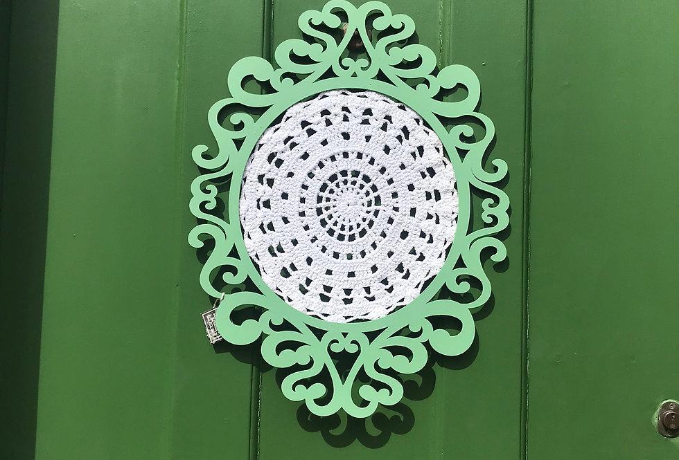 Mandala de Crochê Verde Claro