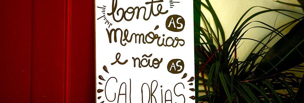 Placa Conte as memórias