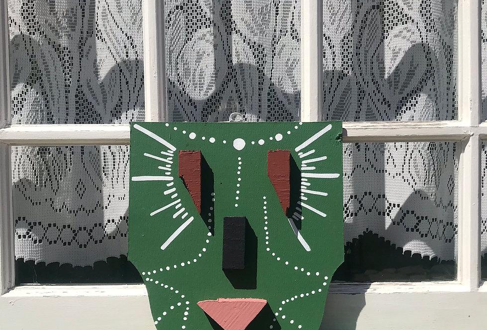 Máscara Verde com Terracota