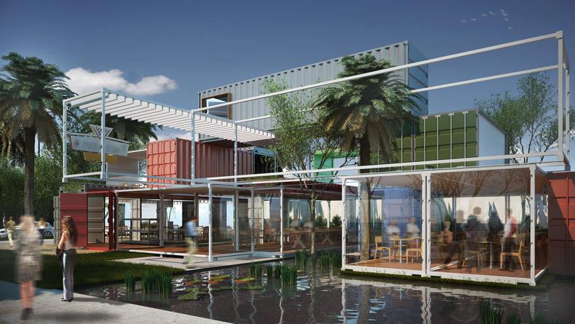 Restaurante em Miami Container