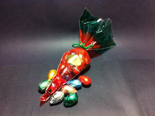 Cenoura Plástica com Ovinhos de Chocolate 120 g