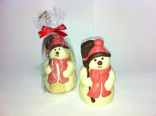 Boneco de Neve de Chocolate 80 g (Unidade)