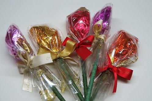 Meio Botão de Rosa (Chocolate) unitário