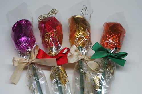 Botão de Rosa (Chocolate) unitário