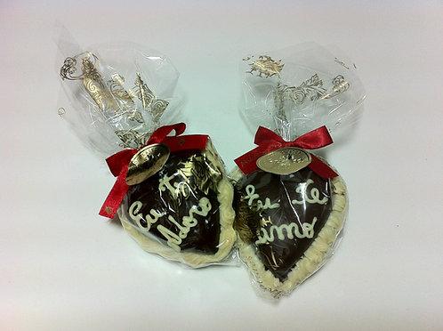 Coração de Chocolate com mensagem 40 g (Unidade)