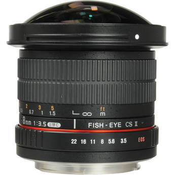 Samyang 8mm f/3.5 HD Fisheye Lens with Removable H