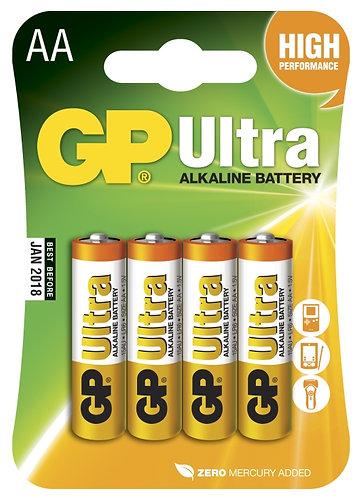 Battery GP Ultra AA LR6 4 Pack