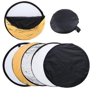 Collapsible Reflector Silver/White/Gold