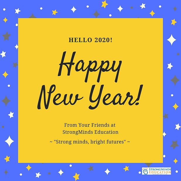 StrongMinds 2020 New Year's Social Media