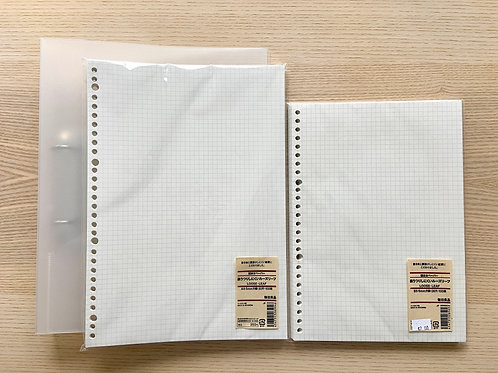 MUJI A4文件夾+內頁紙(A4+B5)