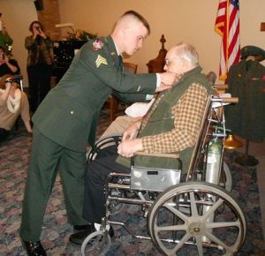 "George Kaddatz, a hospice patient and U.S. Marine Corps veteran, was honored three years ago through the ""We Honor Veterans"" program. Contributed photo"