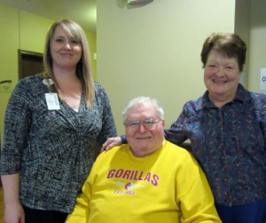 Sarah Lueck, Bob Lewis and Geri Cleland in the Baxter Bistro at Northern Lakes Senior Living. Photo by Cathy Nelson